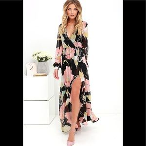 🔥So sexy Wondrous water lilies floral print maxi